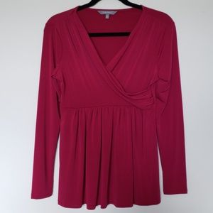 Fuschia empire waist top Size S
